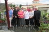 Some of the residents with the bishop and the archdeacon