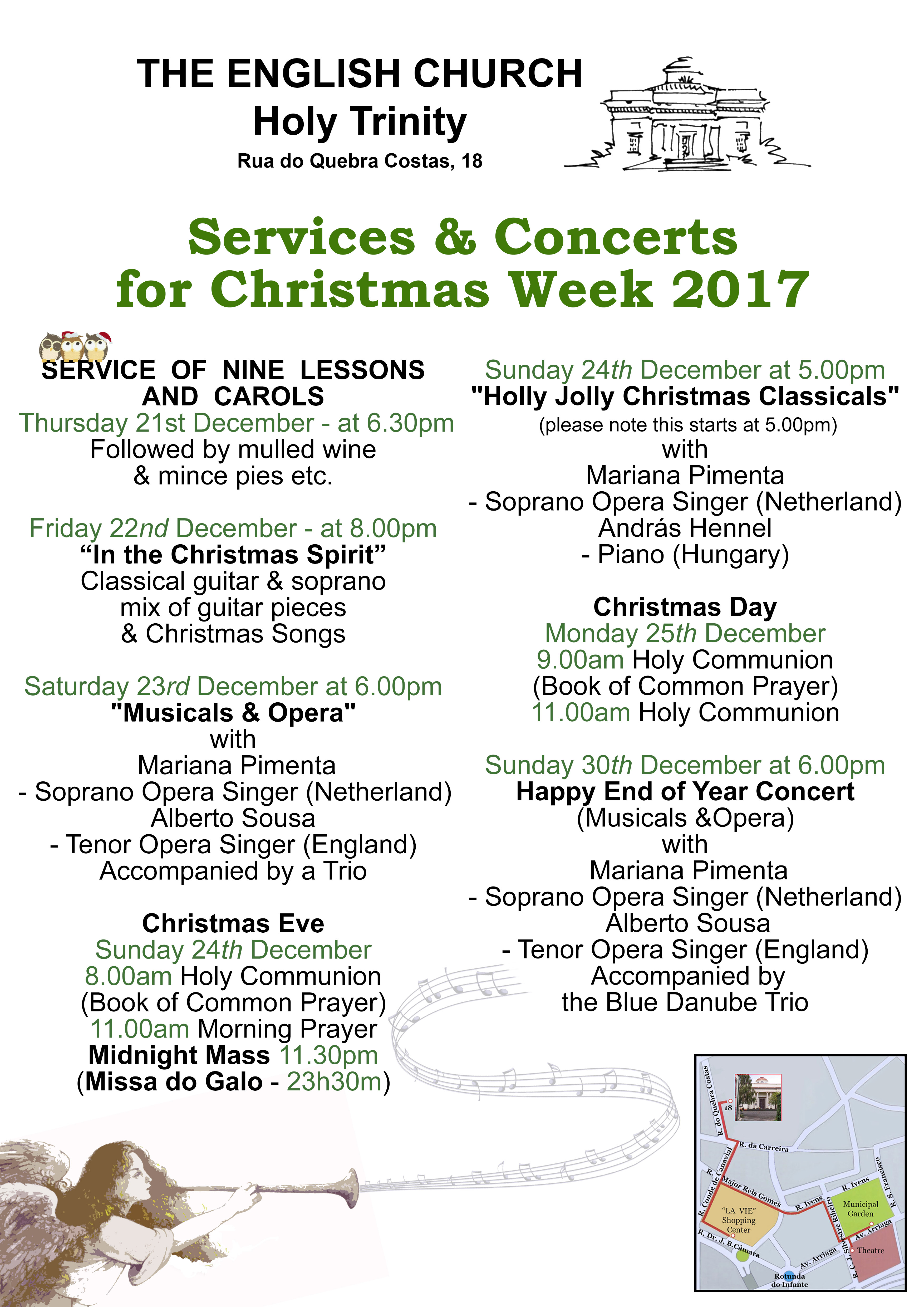 Poster Christmas services and concerts 2017