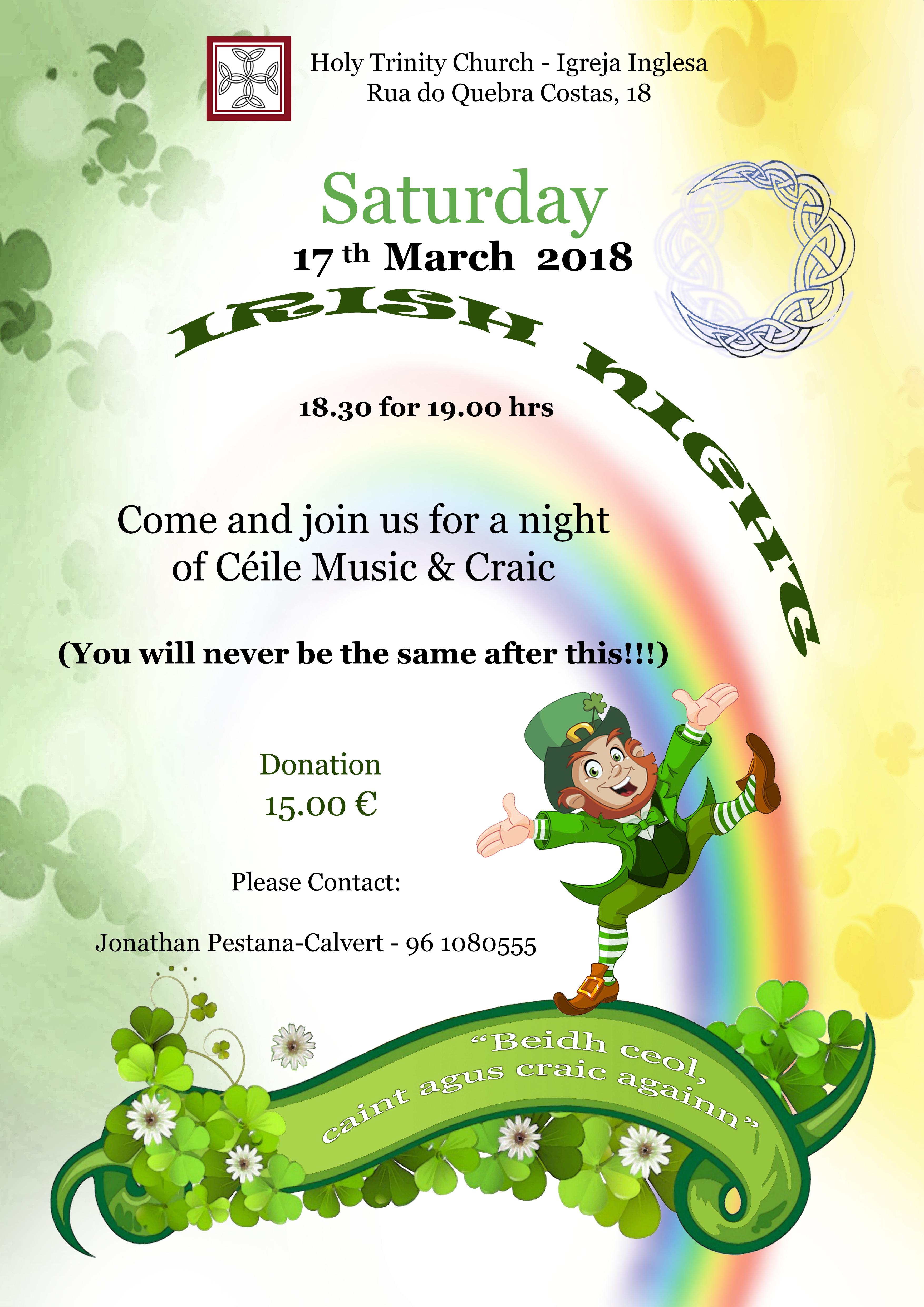 Irish Night - 17th March, 2018