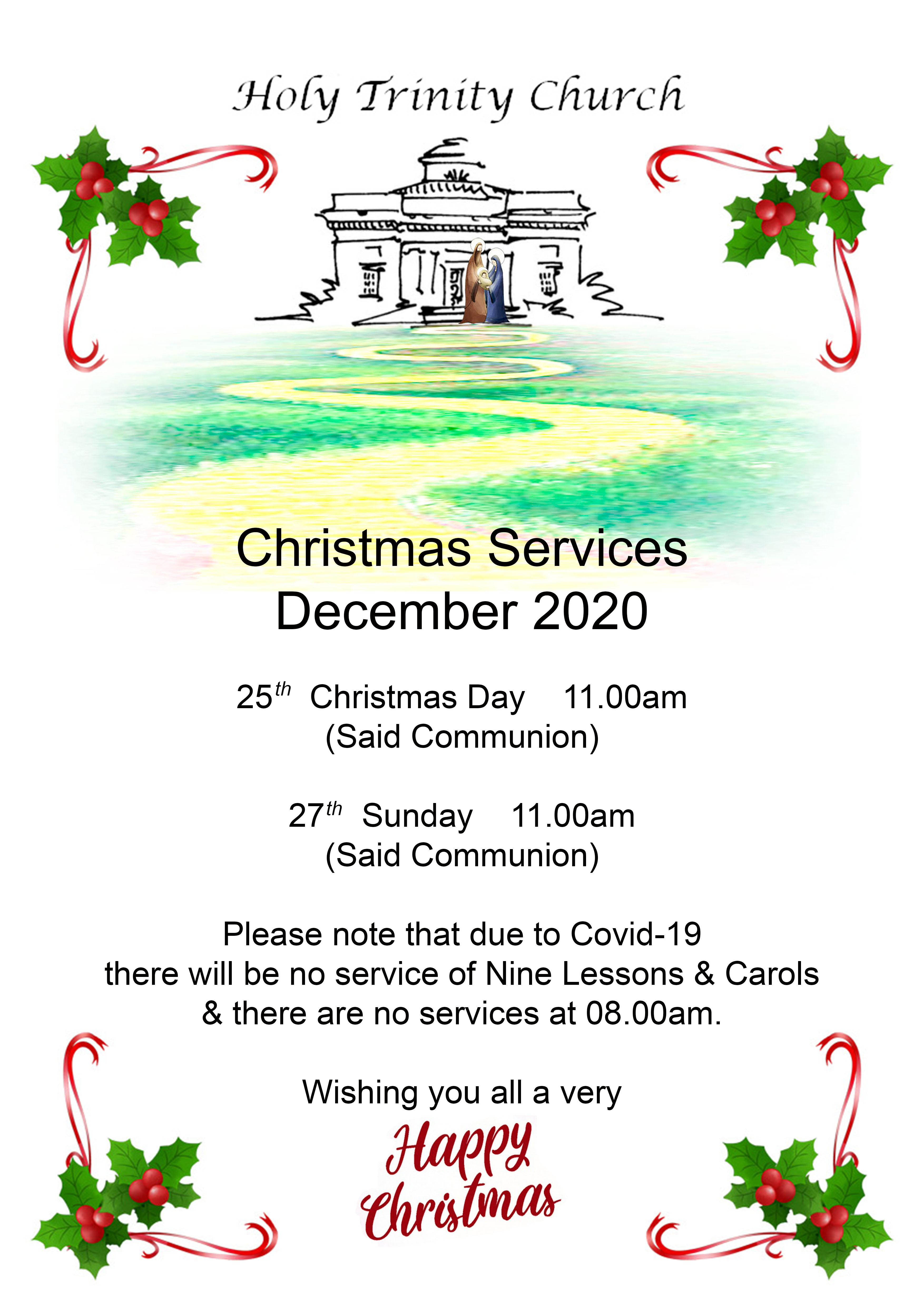 Christmas services 2020