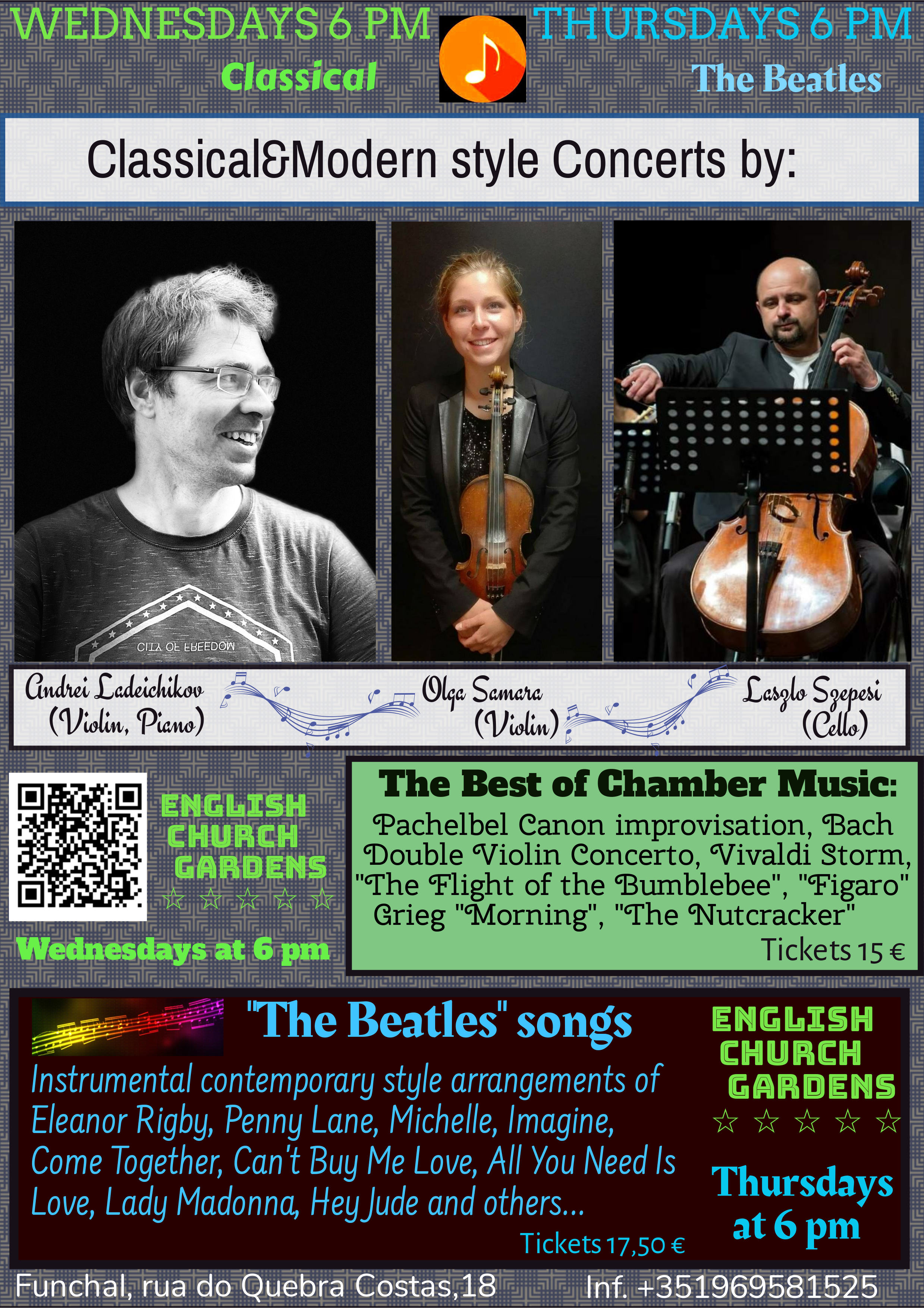 Concerts - Wednesday and Thursday July 2021